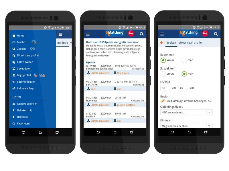 E-Matching heeft een handige app